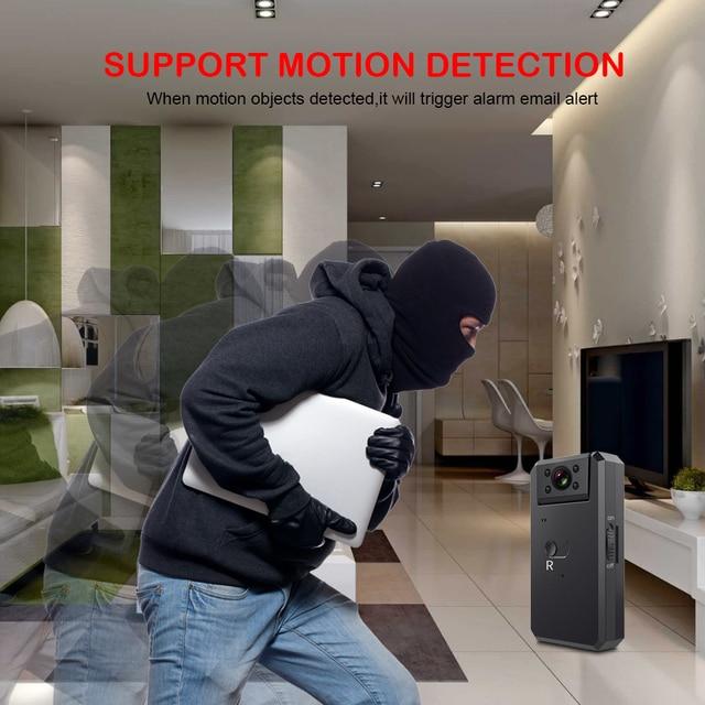 Mini alarme alarme 1080P sans fil | Alarme infrarouge électronique DVR, caméra HD DVR, Angle de 165 degrés, Mini caméscope, télécommande