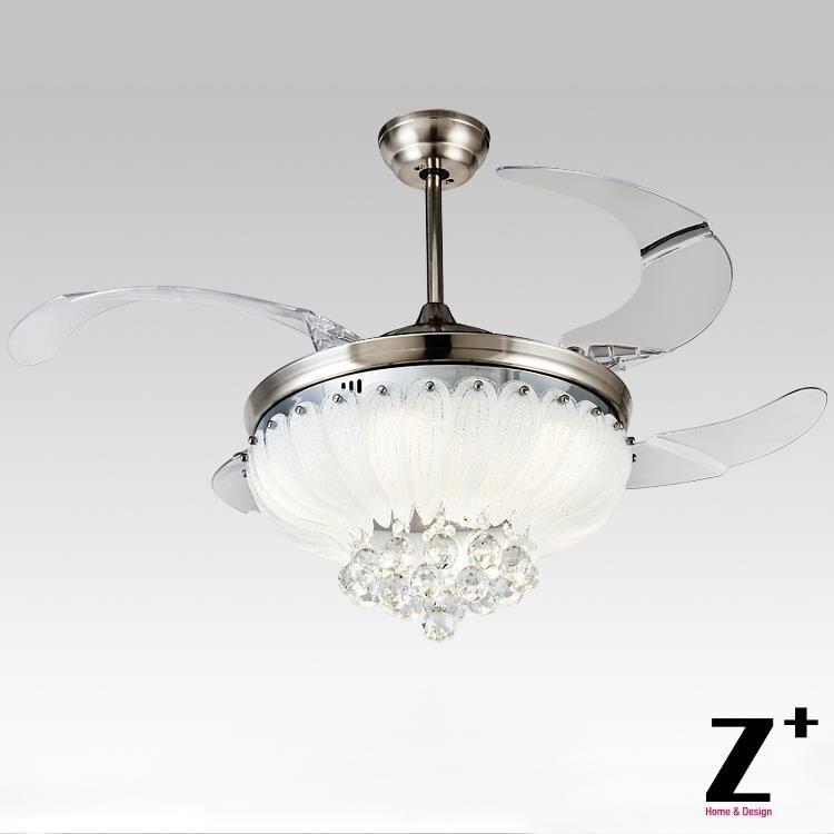 ୧ʕ ʔ୨Estilo moderno Americano llevó luces Lotus 4 ventilador ...