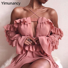 Vestidos Damen Yimunancy Rüschen