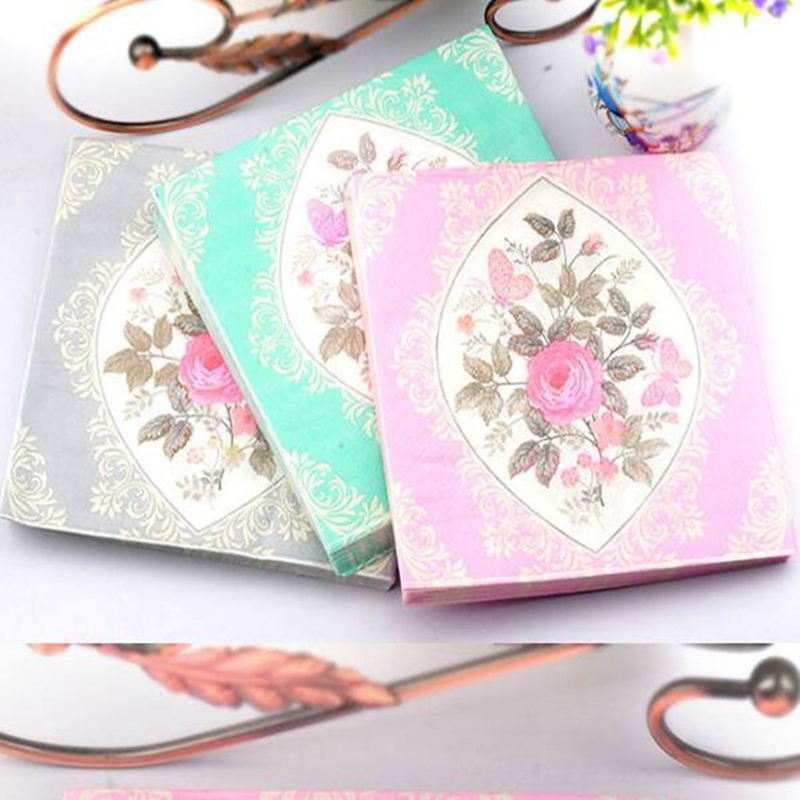 20 Pc Bride and Groom Napkin Print Paper Table Wedding Party Decoration