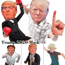 2019 New Arrive Funny Trump Face Mask  Cosplay Cardboard Halloween Masks Party Costume Dress Up Gift For Man hotsale minecraft game cardboard enderman creeper steve mask baby party cosplay cardboard steve heads mask toy for kids gift