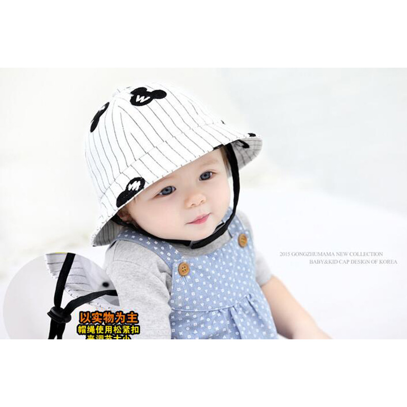 987fec27de933 Summer Hat Baby Boy Handsome Sun Hat Baby Cool Cartoon Baby Boy Hats Newborn  Fotografia Baby Bucket Hat-in Hats   Caps from Mother   Kids on  Aliexpress.com ...