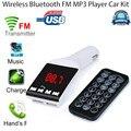 Simplestone Bluetooth Manos Libres Kit de Coche Reproductor de MP3 Transmisor Inalámbrico de FM USB SD TF Remoto 0216 envío de la gota