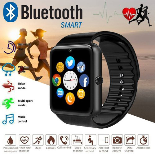 2018 Smart Watch GT08 Clock Sync Notifier Support Sim TF Card Bluetooth Connectivity Android Phone Smartwatch Alloy Smartwatch
