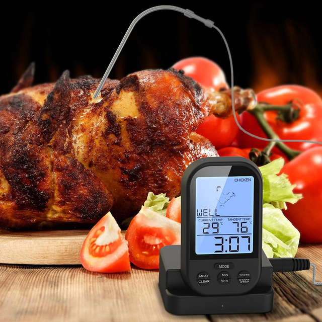 Digital Kitchen Thermometer For Meat Water Milk Cooking Food Probe BBQ Tools T