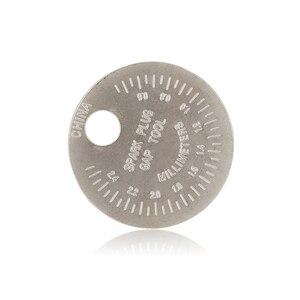 Image 2 - 1 piezas bujias de encendido bujía herramienta de calibre herramienta de medición moneda tipo 0,6 2,4mm de spark plug manómetro de herramienta Gage 4 unids lote china antorcha iridium bujías de platino