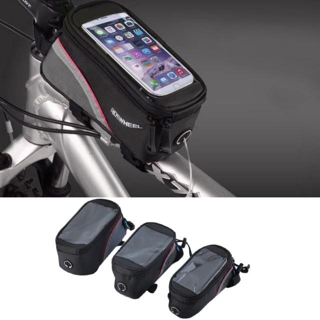 """ROSWHEEL4.8 """"4.2"""" 5.5 """"Sacos Cestos de Ciclismo Da Bicicleta Da Bicicleta do Tubo Do Quadro Dianteiro Bag Para Celular Bicicleta MTB saco de Tela de toque"""