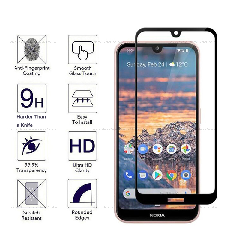 9H Protective Glass for <font><b>Nokia</b></font> 4.2 3.2 2.2 5.1 <font><b>7.1</b></font> 8.1 1 Plus <font><b>Screen</b></font> <font><b>Protector</b></font> for <font><b>Nokia</b></font> 9 X5 X6 2 3 5 6 2018 X 5 6 Tempered Glas image