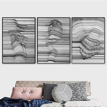 Black And White 3D Hands Abstract Poster Nordic Wall Art Canvas Painting Pop Pictures for Living Room Unframed