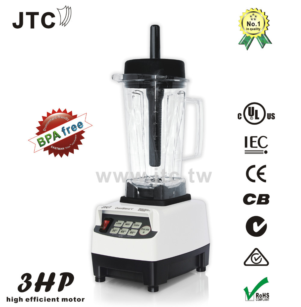 BPA FREE 3HP JTC commercial blender,food mixer,juice food fruit processor, Model: TM-800, White,FREE SHIPPING,NO.1 Quality, jtc heavy duty commercial blender with pc jar model tm 800 black free shipping 100