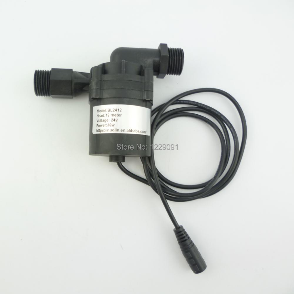 1pcs hot newest dc 24v 12m water heater booster pump brushless motor water pump submersible
