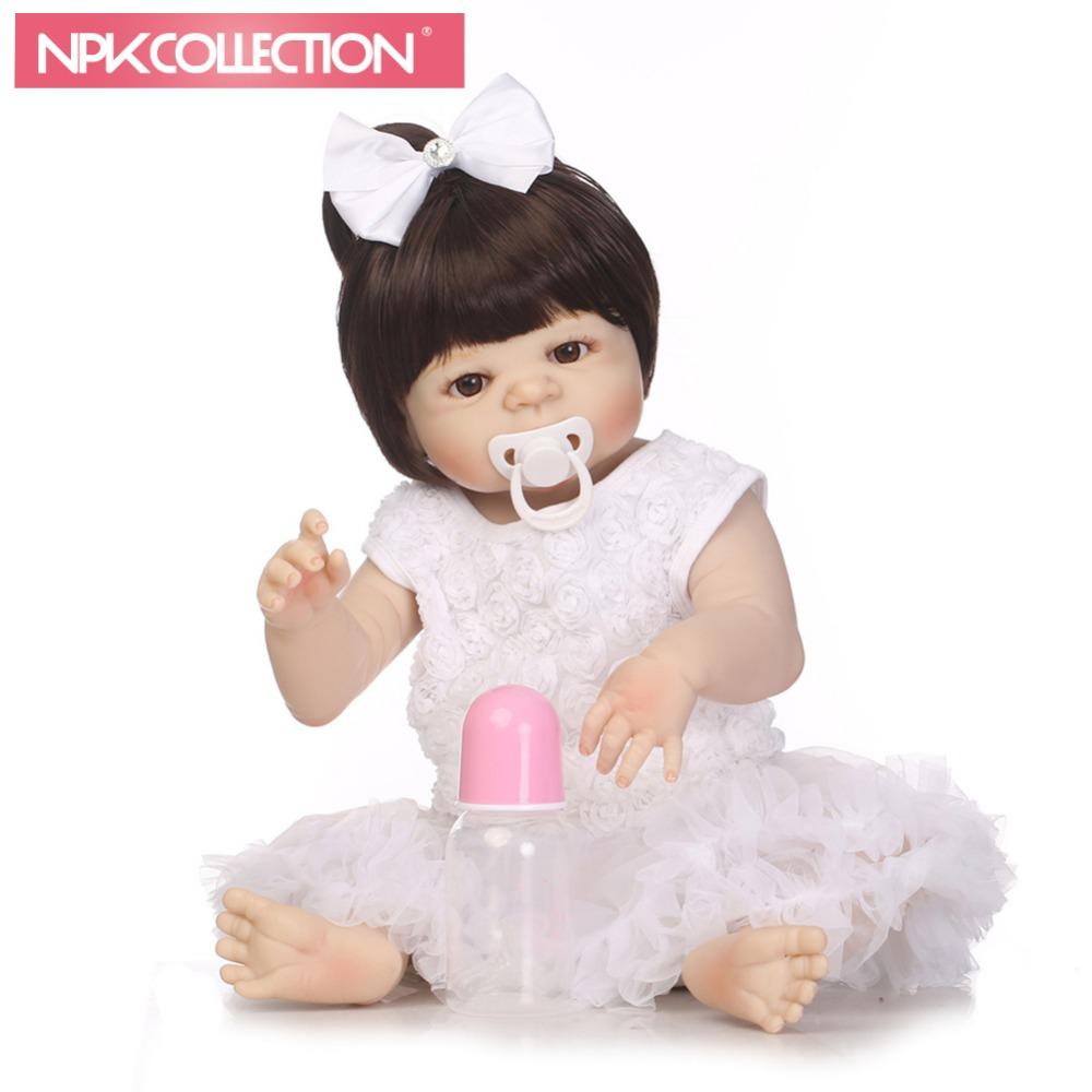 NPKCOLLECTION bebe reborn dolls with soft silicone girl body baby toys newborn dolls cheaper price for girl birthday gifts toys hot sale toys 45cm pelucia hello kitty dolls toys for children girl gift baby toys plush classic toys brinquedos valentine gifts