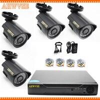 4CH CCTV System 720P HDMI AHD CCTV 1080N DVR 1.0 MP IR Outdoor Security Camera 1200TVL Camera Surveillance Kit
