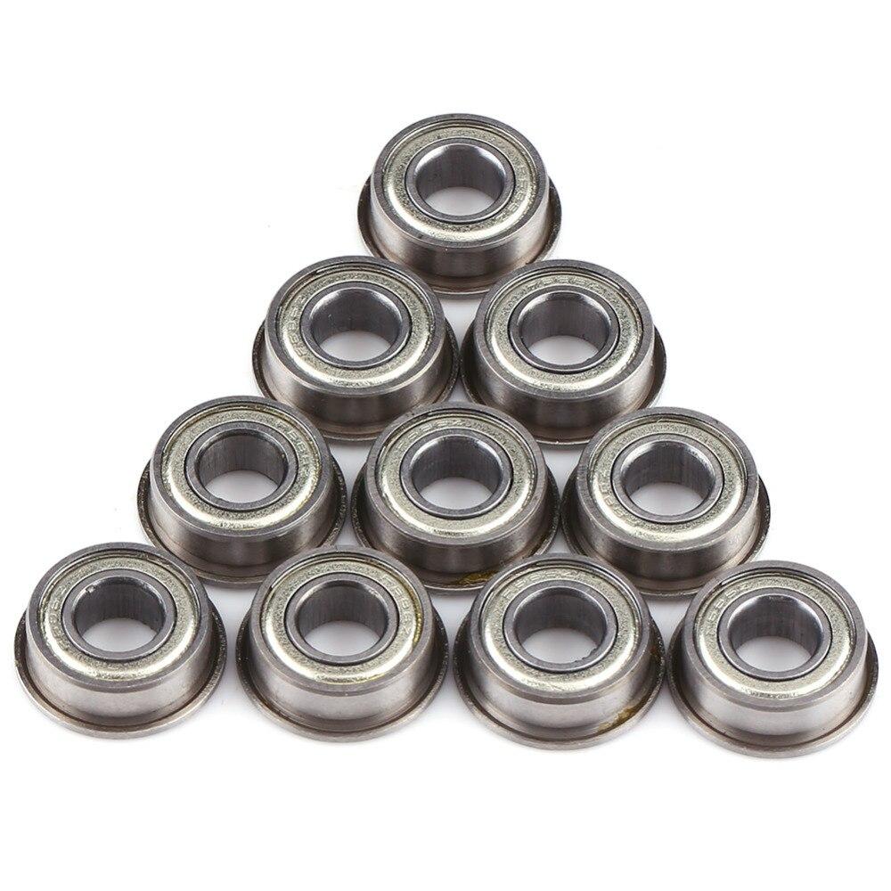 10pcs F686 F686ZZ Mini Metal Double Shielded Flanged Ball Bearings 6*13*5mm