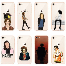 i6 6S UltraThin silicone Back Skin Cover for iPhone 8 Soft Gel TPU Case for iPhone X 5S SE 6 6S 8 Plus Phone Cases Harry Styles imd gel tpu skin for iphone 6s plus 6 plus pretty flowers and butterflies