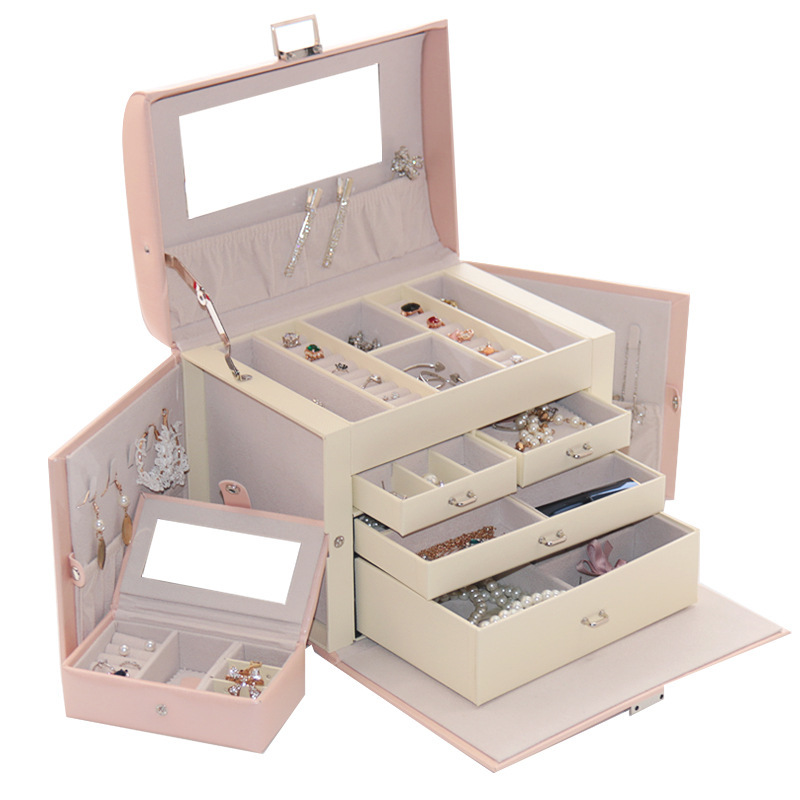 Free Shipping 2019 The New Big Butterfly Princess Multi-function Large Capacity Ou South Korea Ring Is Received Jewelry Boxes Free Shipping 2019 The New Big Butterfly Princess Multi-function Large Capacity Ou South Korea Ring Is Received Jewelry Boxes