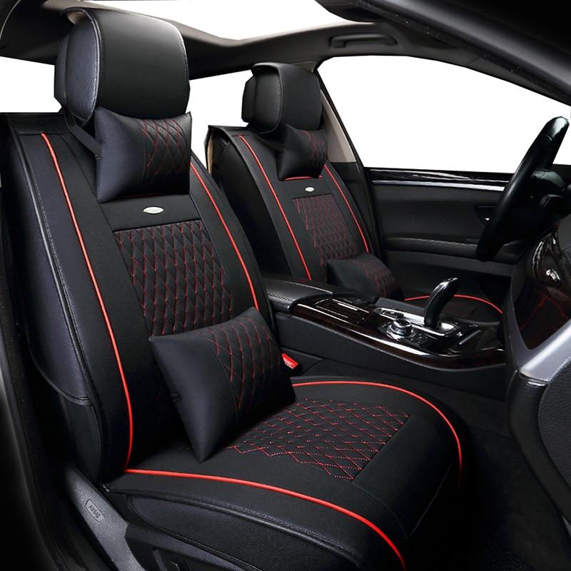 New PU Leather Auto Universal (front+back ) Car Seat Covers for nissan invitation juke kicks leaf livina maxima murano navara