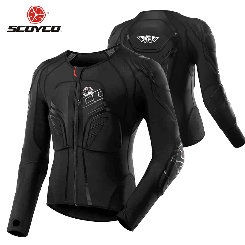 SCOYCO Motocross Protection Gear Moto Protective Jacket Motorcycle Armor Racing Body Armor Black Motorcycle Jacket Moto Armor risk racing 00 110 black motocross grip donuts with blister protection
