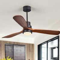 Postmodern Wooden Ceiling Fans Bedroom 110v/220v Ceiling Fan Wood Ceiling Fans With Lights Remote Control Ventilador De Teto
