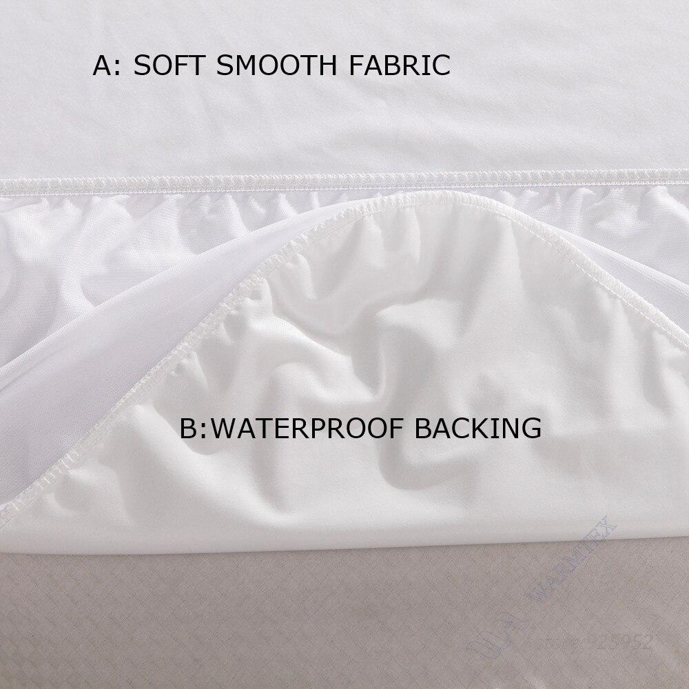 WARMTEX Twin/Full/Queen/King Smooth Waterproof Mattress Protector Hypoallergenic Mattress Cover Smooth Mattress Protector