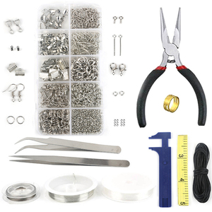 Image 3 - 24Grids Iron Jewelry Tool Sets Single ring/Lobster clasp/Tail chain/Clip buckle/Drop Kit Necklace Bracelet Materials Supplies