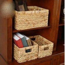 Storage basket rattan storage box straw without cover