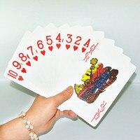 Hot new giant plastic playing poker cards set Gambling Family Fun Game PVC card