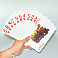 Hot new giant plastic playing poker cards set Gambling Family Fun Game PVC card