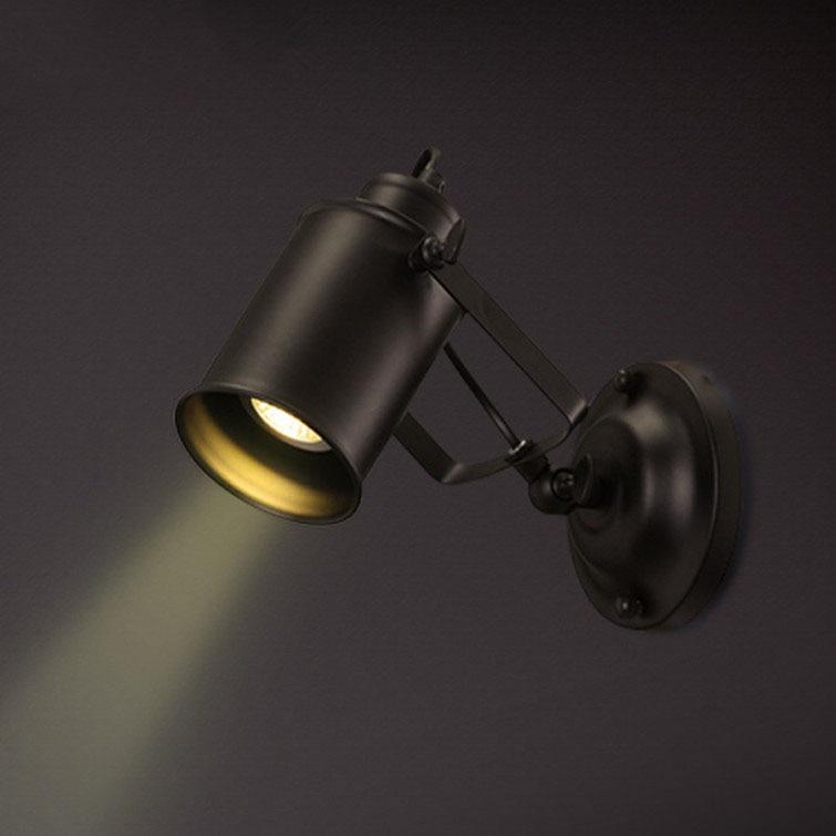 Retro Indoor Lighting Black Wall Lamp Industrial Loft Wall Mounted Bedside Wall Lighting Adjustable Spot Wall Lamp for Home(31)