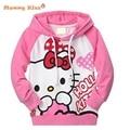 2015 New Fall Hello Kitty Girls Clothes Long Sleeve Pink Cotton Children Hoodies&Sweatshirts Cartoon Hoodies Sweatshirts k20405