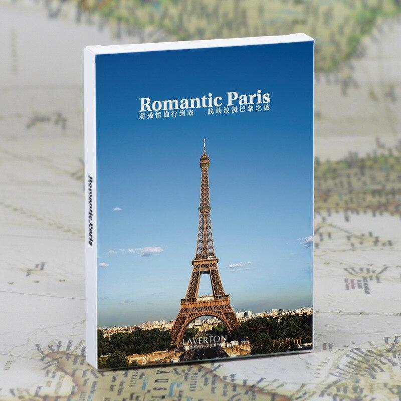 30Sheets/LOT Take A Trip To Romantic Paris Postcard /Greeting Card/wish Card/Fashion Gift