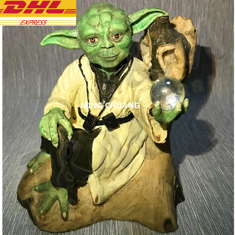 Star Wars: Episode V - The Empire Strikes Back Statue Jedi Order Jedi Knight GK Master Yoda Bust Resin Action Figure Toy W122 star wars jedi knight master yoda pvc action figures toys collection brinquedos great gifts for kids 5 12cm