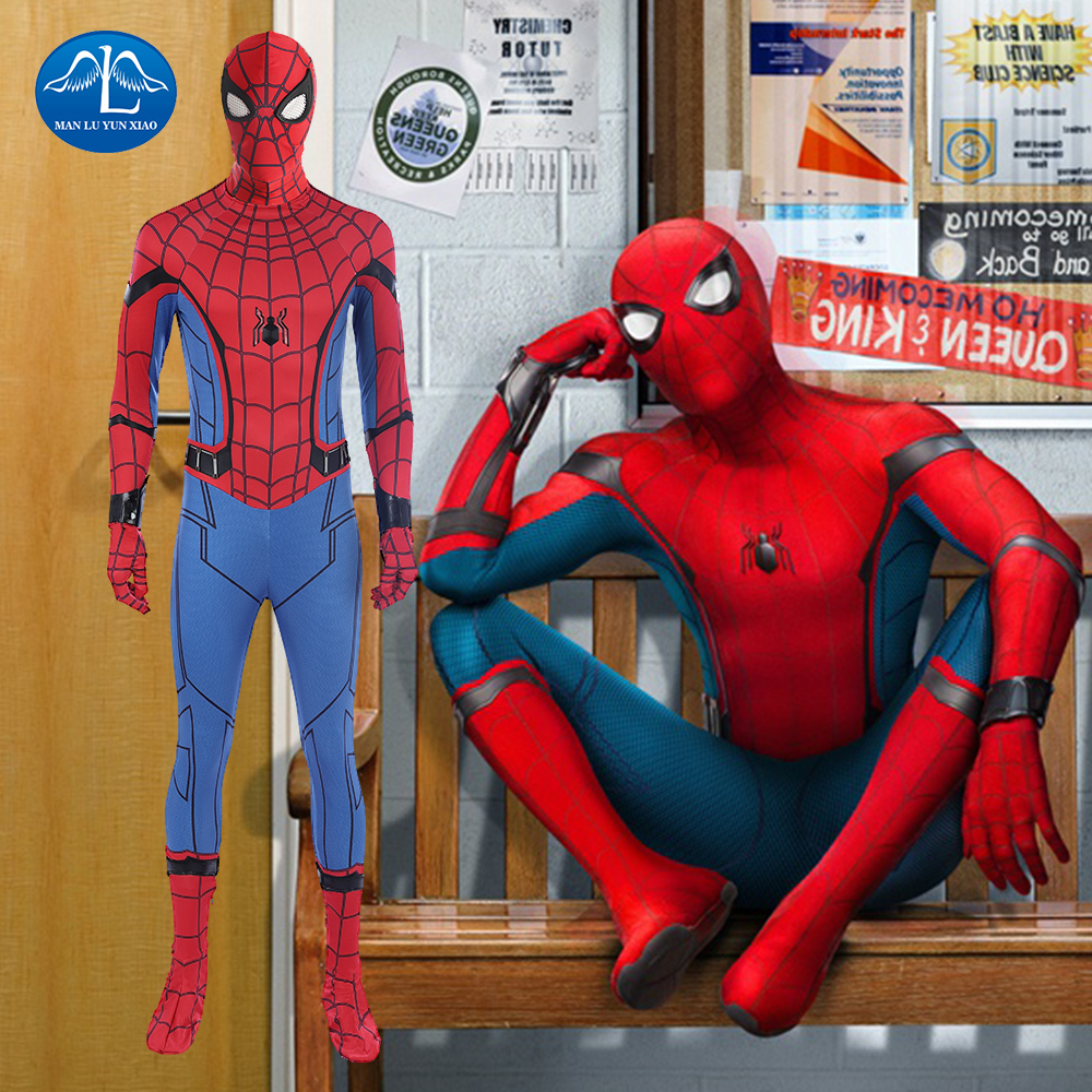 Spiderman Costume Homecoming Cosplay Suit Spider man Superhero Spider Man Jumpsuit Halloween Clothes Adult Men Outfit Carnival in Movie TV costumes from Novelty Special Use