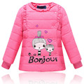 New 2016 Winter Baby Girls Candy Color Down Parkas Children Warm Outerwear Kids Girls Cute Jacket Coats Cotton Liner Coat