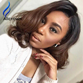 Alicrown Fashion Natural Wave Human Hair Wig Full Lace Wigs Black Women With Baby Hair Full Bangs Lace Front Wigs Virgin Hair