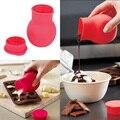 Práctico Molde de Silicona Chocolate Melting Pot Verter Salsa de Mantequilla de Leche Para Hornear #71566