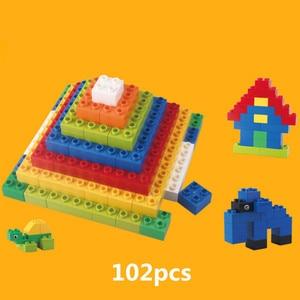 Image 3 - 102pcs Diy Duploed Building Blocks อิฐสร้างสรรค์ด้วยการศึกษาของเล่นเด็กคริสต์มาสของขวัญ