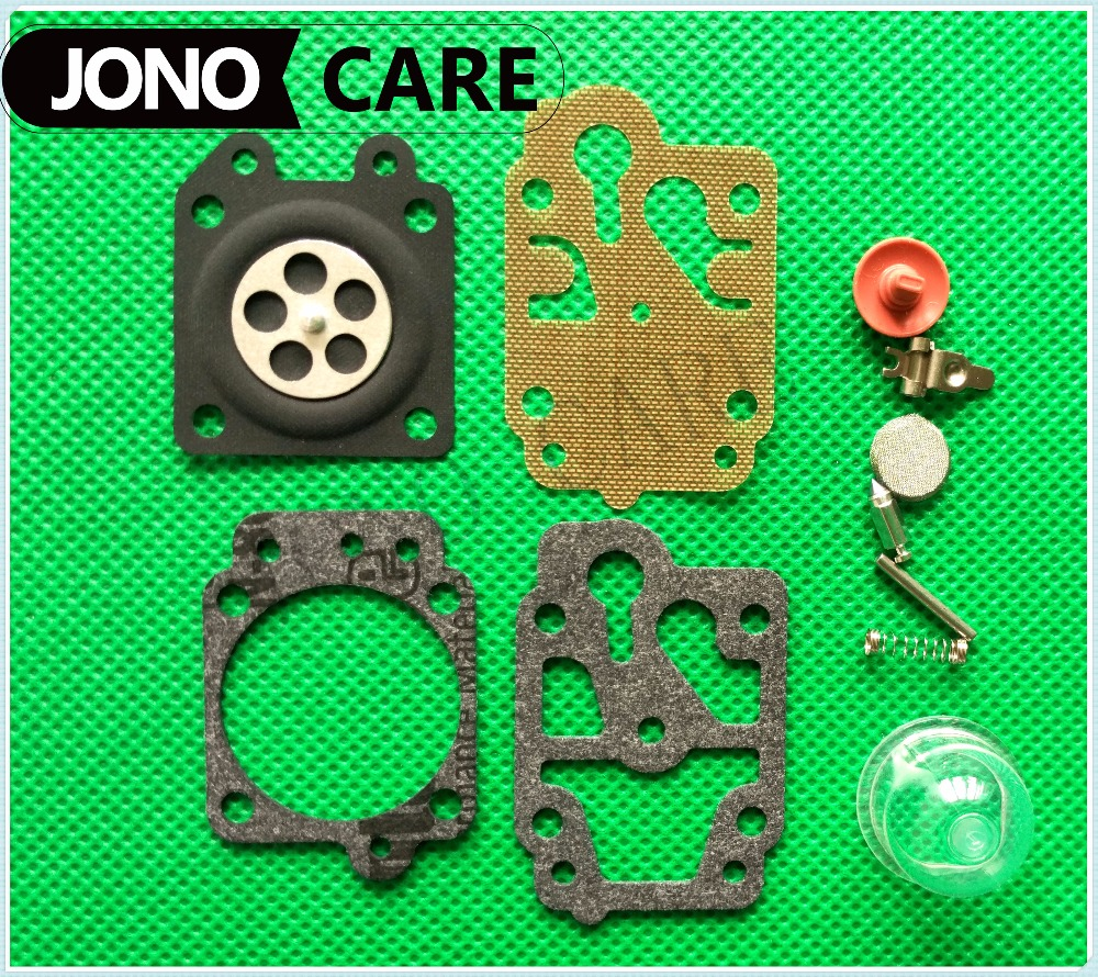 5sets Carburetor Carb Repair Kits Brush Cutter Grass Trimmer Repair Gasket For Walbro Carburetors 40-5/44F-5 34F 36F 139F