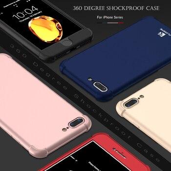 FLOVEME Luxe 360 Degré étui pour iphone 6 6s 7 Plus Rouge Protecteur étui pour iphone 7 6 6s Plus étui pour téléphone antichoc Coque