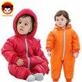 2016 Горячая зима дети пуховик девочка одежда сплит стиль baby boy ползунки мода детская одежда ребенка зимой верхней одежды DZ10