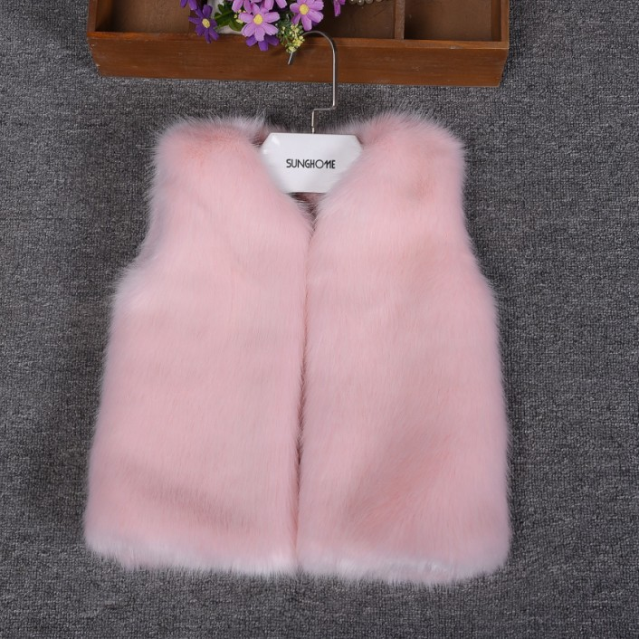 Colorful Children Mink Hair Fur Coat Winter Warm Fashion Long Stlye Solid Suit Collar Clothing for Boys Girls Full Jacket T007 children clothing winter fashion fur collar high quality children s leisure suit jacket warm paragraph children clothing set