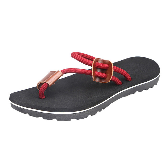 SIKETU Men Slippers Casual Flat Flip Flops Beach Shoes Outdoor Men Shoes Antiskid Bathroom Shoes Male Summer Slippers A30