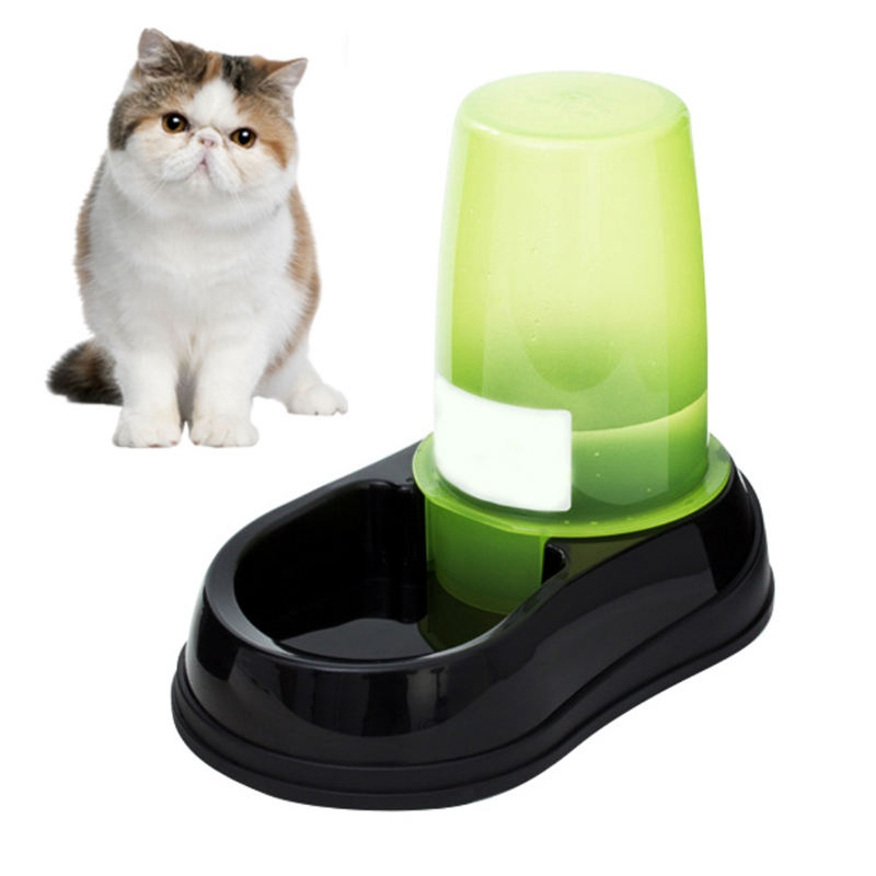 1.2L/2.5L Automatic Pet Feeder Drinking Fountain For Cats Dogs Environmental Plastic Dog Food Bowl Pets Water Dispenserbtmv