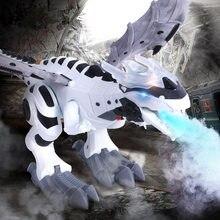 Электронные модели динозавров игрушки ходячий распылитель робот