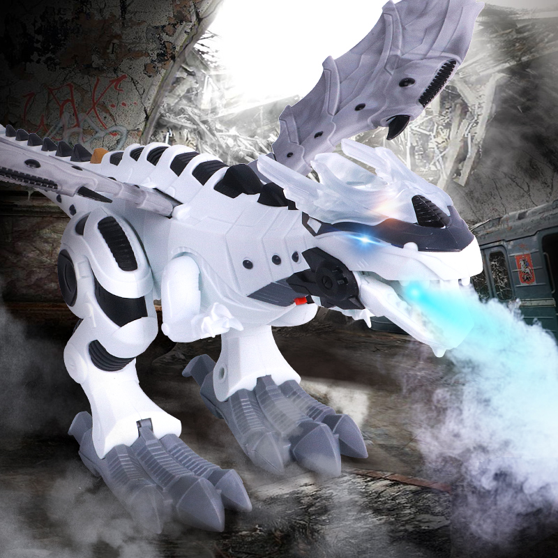 Electric Pets Interactive Dinosaurs Toys Walking Spray Robot Dinosaur With Light Sound Swing Simulation Dinosaur Toy For Child