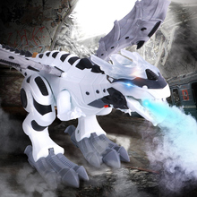 Electric Pets Interactive Dinosaurs Toys Walking Spray Robot Dinosaur With Light Sound Swing Simulation Dinosaur Toy For Child electric toy large size walking spray dinosaur robot with light sound mechanical dinosaurs model toys for kids children