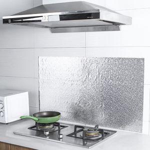 Кухонная настенная плита, алюминиевая фольга, маслостойкий стикер s, противообрастающий высокотемпературный самоклеящийся задний стикер н...