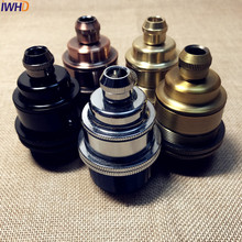 цена на Bottle Shaped Vintage E27 Socket Loft Industrial Brass E27 Lamp Holder Socket Base For Edison Pendant Light