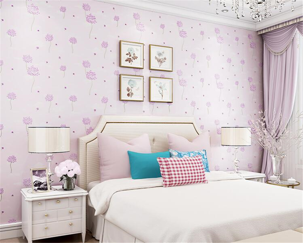 beibehang Fashion wedding room pastoral style wall paper bedroom background nonwoven papel de parede 3d wallpaper living room beibehang wall paper pune continental nonwoven shop for retro wallpaper ranunculus sweet potato leaves the bedroom living room