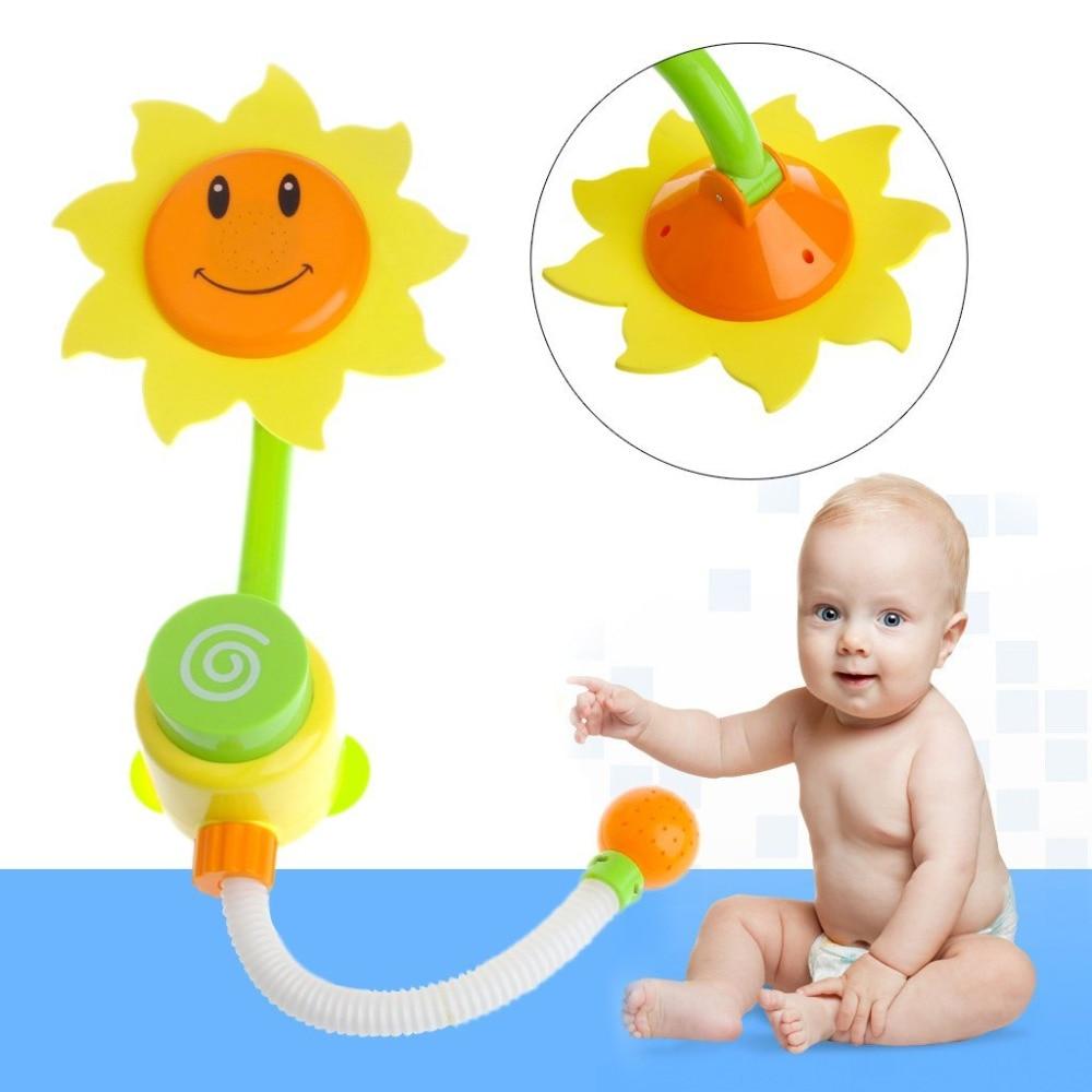 TOEPAK Sunflower Baby Bath Toys Water Shower Spray For Children Kids ...